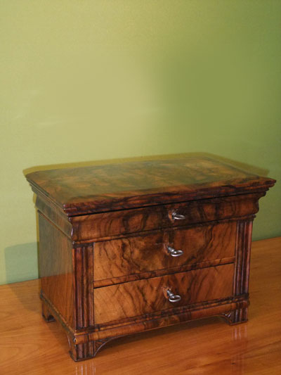 signed miniature chest of drawers